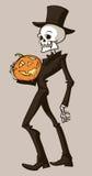скелет тыквы Стоковая Фотография RF