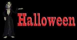 скелет halloween шаржа Стоковое Изображение RF