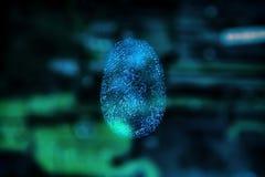 Скеннирование отпечатка пальцев для безопасного доступа Стоковое Изображение RF