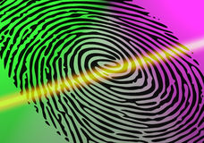 Скеннирование отпечатка пальцев Стоковая Фотография RF