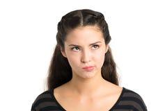 Скептичная девушка стоковая фотография