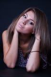 Скептичная и нерешительная дама Стоковая Фотография RF