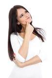 Скептичная молодая женщина стоковое изображение rf