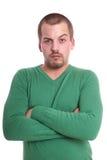 Скептичный молодой человек Стоковые Фотографии RF