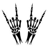 Скелет вручает знак тяжелого метала Стоковые Фотографии RF