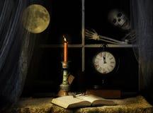 Скелет выстукивая на специализированной части окна Стоковое Изображение