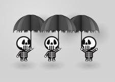 Скелет в концепции дня хеллоуина Стоковые Фото