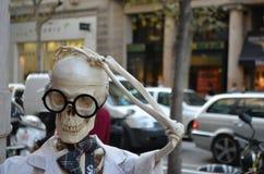 Скелет профессора стоковые изображения
