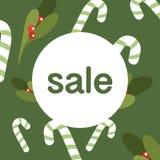 Скидка продажи рождества рабат Продажи концепции, иллюстрация знамени иллюстрация вектора