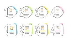 Скидки календаря, приобретение рождественской елки и смартфона набор значков Волны подписывают r бесплатная иллюстрация