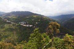 Скит в Trongsa, центральный Бутан Trongsa Dzong Стоковое Фото