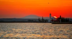 Скит на восходе солнца стоковое фото