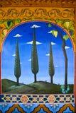скит орнаментирует стену стоковые изображения rf