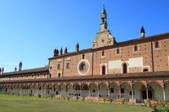 скит pavia Италии di certosa средневековый стоковое изображение