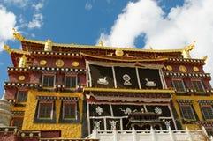 Скит Songzanlin тибетский, shangri-la, фарфор стоковая фотография