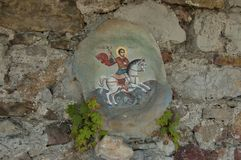 Скит St. George Glozhene - 13 столетие, Бугарска Стоковое Фото