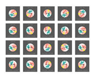 Скидка 5 до 99 процентов Скидка карточек иллюстрация штока