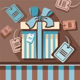 Скидки, подарки, бирки, ярлыки Иллюстрация штока
