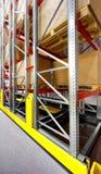 Складируйте конструкции металла шкафов dismountable, современная концепция предпосылки технологии склада, вертикальная ориентация Стоковые Изображения