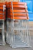 складывать стулов Стоковое фото RF