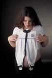 складывая беременная женщина Стоковые Изображения RF
