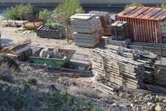 Склад для конструкционных материалов стоковая фотография rf