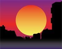 склонение города сверх бесплатная иллюстрация