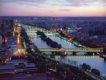 склонение paris мостов Стоковое фото RF