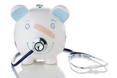 склоняя побеспокоенные сбережения здоровья экономии Стоковое фото RF