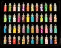 Склянки с стразами яркого блеска стоковое фото