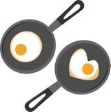 Сковорода иллюстрация вектора