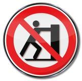 Скольжение знака запрета запретило иллюстрация вектора