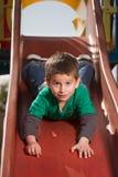 скольжение мальчика Стоковое фото RF
