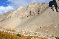 скольжение утеса горы Стоковая Фотография