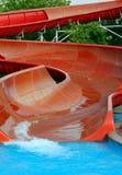 скольжение aquapark Стоковое фото RF