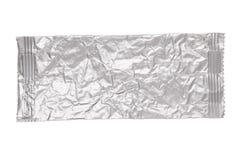 Скомканная алюминиевая сумка изолированная на белизне Стоковая Фотография RF