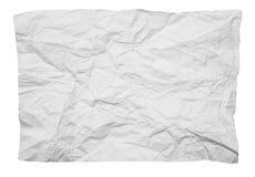 Скомканная белая бумага на белой предпосылке Стоковое фото RF