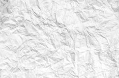 Скомканная белая бумага от пакета как текстура предпосылки Стоковые Изображения