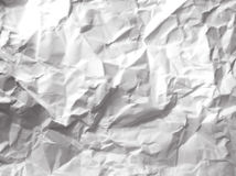 Скомканная белая бумага Стоковое фото RF