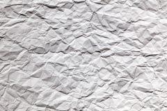 Скомканная белая страница бумажной текстуры Стоковое Фото