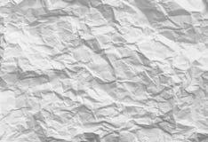 скомканная бумага Белая предпосылка текстуры картины Стоковые Фото