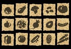 скомканная бумага икон Стоковое Изображение