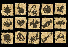 скомканная бумага икон Стоковые Фото