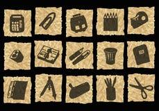 скомканная бумага икон Стоковое фото RF