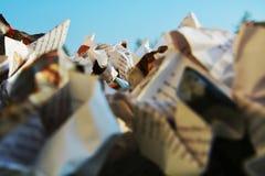 Скомканная бумага, конец-вверх Стоковые Изображения RF