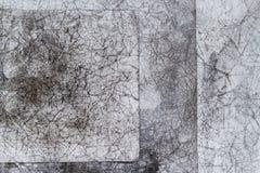 Скомканная бумага предпосылки Vintege серая старая creased Стоковые Фотографии RF