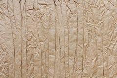 Скомканная бумага ремесла Стоковое Изображение