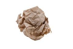 скомканная бумага рециркулирует Стоковые Изображения