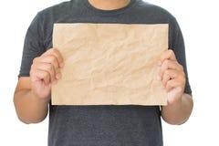 скомканная бумага рук Стоковые Изображения