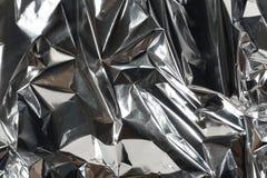 скомканная бумага фольги глянцеватая Стоковые Изображения RF
